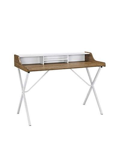 Modway Bin Desk, Walnut