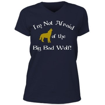 Big Bad Wolf: Custom Misses Relaxed Fit V-Neck T-Shirt
