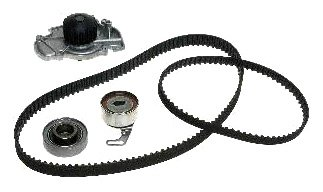 Gates TCKWP186 Engine Timing Belt Kit with Water Pump (1993 Honda Accord Water Pump compare prices)