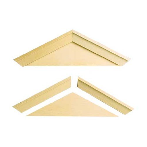 Dollhouse Miniature Playscale Window Pediments - 1