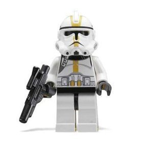 Clone Trooper (Yellow) - LEGO Star Wars Figure - 1