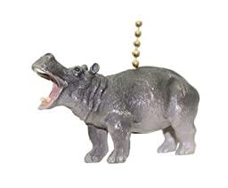 Hippo Hippopotamus Safari Animal Ceiling Fan Light Pull