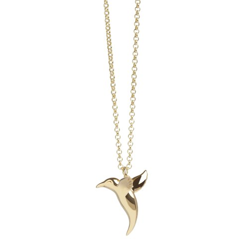 Hummingbird Pendant in Gold Vermeil