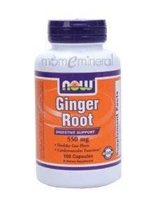 Ginger Root 550 mg 100 Capsules by NOW Foods