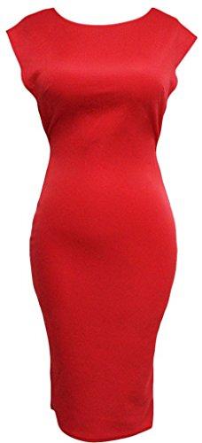 la-vogue-dos-nu-perle-robe-rouge-portefeuille-moulante-fourreau-manche-courte-buste88cm