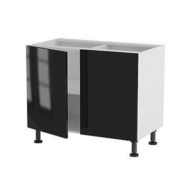 Pas cher atelier du menuisier meuble cuisine bas 100cm for Meuble cuisine 2 portes pas cher