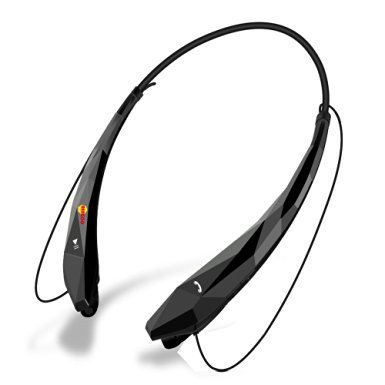 Bluetooth Headset Headphones Earphone, Bengoo Wireless Hands free Headset with Microphone for Apple iPhone iPad iPod Samsung Android Smart Phones And Other Bluetooth Device Black