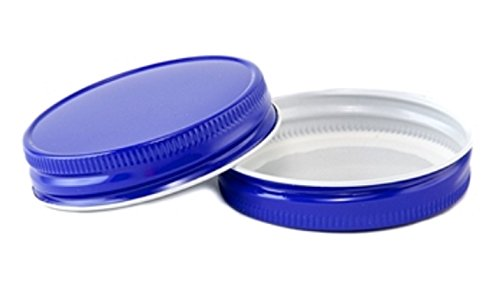 (12 Pack) Mason Jar Lids - Regular Mouth - Canning, Showers, Weddings, Party Favors (Royal Blue)