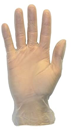 Disposable Vinyl Gloves - Lightly Powdered, Clear, Latex Free and Allergy Free, Plastic, Work, Food Service, Cleaning, Wholesale Cheap