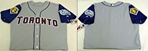Toronto Blue Jays Major League Baseball Authentic Blank Jersey from Majestic Athletic by Majestic
