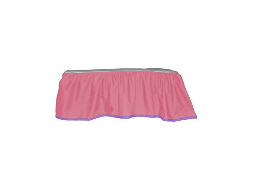 Baby Doll Solid Reversible Crib Dust Ruffle, Pink - 1