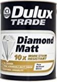 Dulux Trade Diamond Matt Pure Brilliant White 5 Litre, Dulux Trade - (5083005)