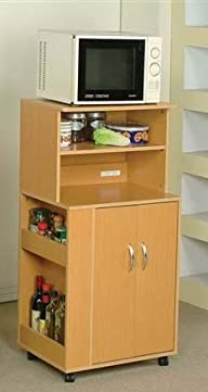 Acme Wales Maple Finish Kitchen Cart