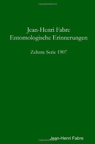 Buchcover: Entomologische Erinnerungen - 10. Serie 1907