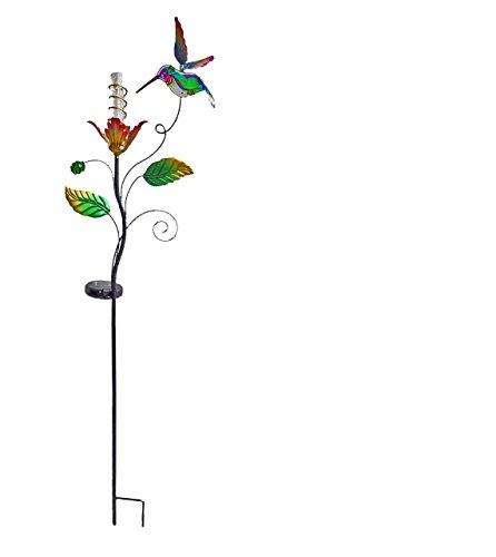Solar Stake with Acrylic Light Bar, Hummingbird