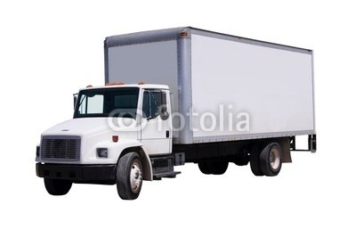Wallmonkeys Peel and Stick Wall Decals - White Delivery Truck Isolated - 18