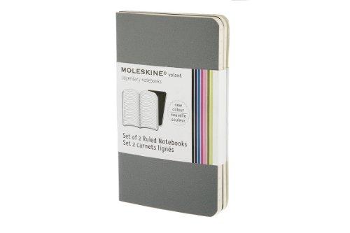 31I4AGuzAiL. SL500  Moleskine Volant Notebook (Set of 2 ), Extra Small, Ruled, Slate Grey, Paynes Grey (2.5 x 4)