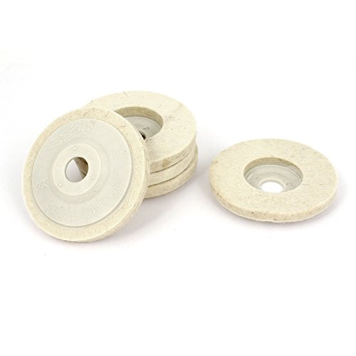 84mmx15mmx10mm-faux-wool-felt-polishing-disc-wheel-pad-off-white-5pcs