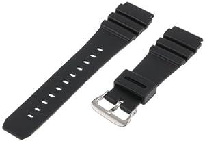 Voguestrap TX2232 Allstrap 22mm Black Regular-Length Fits Casio Sport Watchband