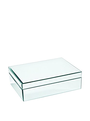 Medium Glass Jewelry Box Color: Clear Mirrored