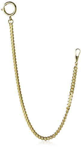 MTS Men's Pocket Watch Chain Pf1,50 Flat Chain Gold Plated 26 cm