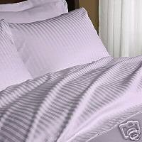 Stripes Lilac 300 Thread Count cal king size unattached Waterbed Sheet Set 100 % Egyptian Cotton By sheetsnthings