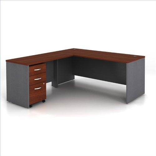 Bush Series C 3-Piece L-Shape Computer Desk in Hansen Cherry