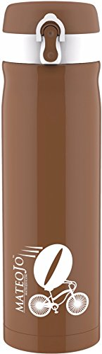Insulated Travel Mug - Leak Proof Coffee Tumbler - Stainless Steel Vacuum Thermos - 14 Oz - Coffee Brown by MateoJo ... (Mr Brown Ice Coffee compare prices)