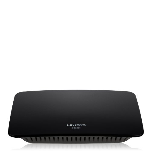 Linksys SE2800-EU Switch Desktop Gigabit Ethernet a 8 Porte, 10/100/1000 Mbps, Risparmio Energetico, QoS, Nero