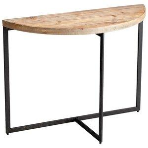 Cheap Cyan Lighting 5064 15″ Taro Console Table, Raw Iron/Natural Wood Finish (B008ELWS52)