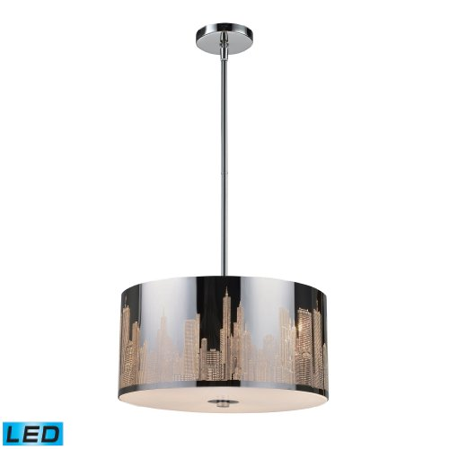 Skyline 3-Light Pendant In Polished Stainless Steel - Led, 800 Lumens (2400 Lumens Total) With Full Scale Dimming Range, 60 Watt (180 Watt Total)Equivalent , 120V Replaceable Led Bulb Included