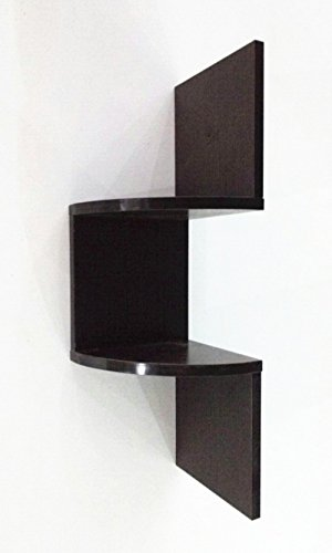 Corneria Home Wall Mount 2 Tiers Floating Corner Shelf Racks