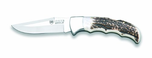 Joker Nc17Usa Stag Horn Folding Knife, 3.51-Inch