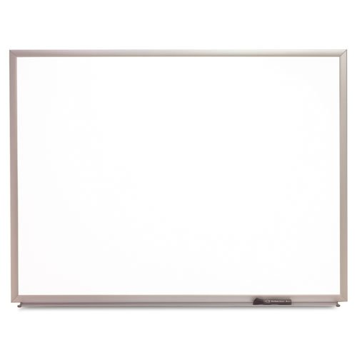 Quartet Products - Quartet - Standard Dry-Erase Board, Melamine, 24 x 18, White, Aluminum Frame - Sold As 1 Each - Built to last, with a sleek but sturdy frame. - Ideal as a home message center. - Package includes Quartet dry-erase marker, attachable marker tray and mounting hardware. - Extend the board's life with regular cleanings using Quartet cleaning solutions. -