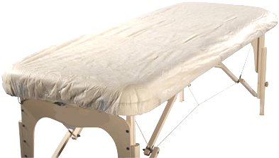"Therapist's Choice® ""Waterproof"" Fitted Disposable Massage Table Sheet, 10pcs per package"