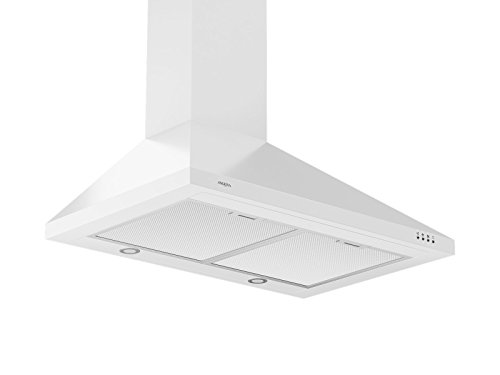 Ancona WPPW430 Wall-Mounted Classic Pyramid Style Convertible Range Hood, 30-Inch, White (White Range Hood Wall Mount compare prices)