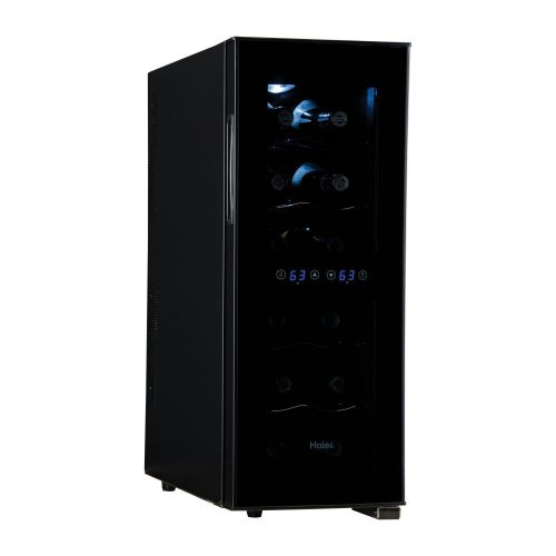 Buy Haier 12-Bottle Dual Zone Curved Door with Smoked Glass Wine Cellar
