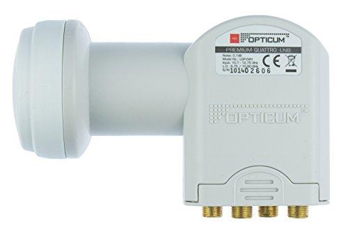 Opticum Quattro LNB - LRP-04H Kontakte (vergoldet, Full HD, 3D, geeignet für Multischalter)