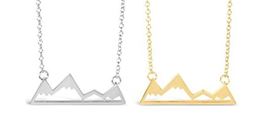 Mountain-Necklace-for-Outdoor-Lovers-Hikers-Skiers-Snowboarders-Hiking-Enthusiasts-Snow-Mountain-Lovers-Mountain-Cabin-Gold-Silver-Tone