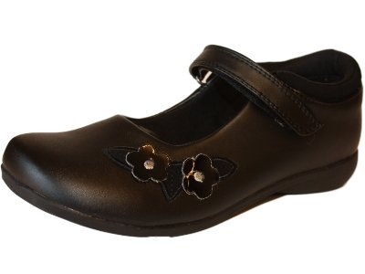 New Girls GOODY 2 SHOES JIVE Slip On Black SCHOOL Sandal Slip On Shoe Kids Sizes UK 8 - 9 - 10 - 11 - 12 - 13 - 1 - 2