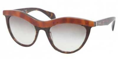 prada Prada 06PS MA40A7 Top Light Havana 06PS Cats Eyes Sunglasses Lens Category 2
