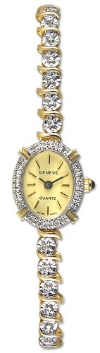 Geneve Mini 14k Solid Gold Diamond Womens Watch W080825