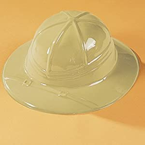 Kids Classic Beige Pith Helmet Jungle Safari Birthday Party-Set of 12 from OTC