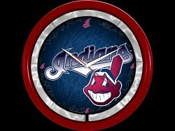 Cleveland Indians Plasma Clock by Authentic Street Signs
