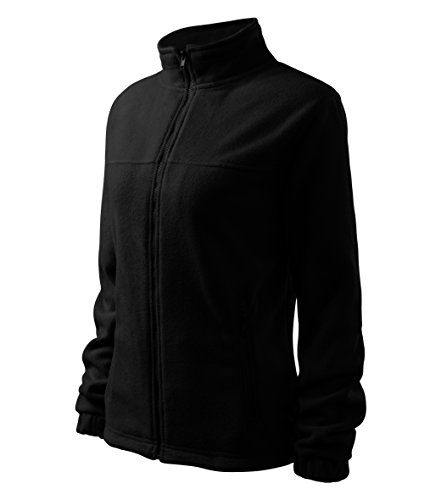 Felpa in pile elegante giacca in pile Outdoor Donna, nero, XL