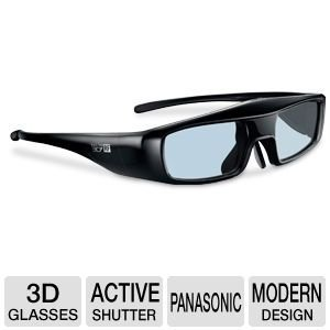 Panasonic 3D RF Active Shutter Glasses, Lightweight, Quick Charge and Long Use, Compatible with RF and Full HD 3D Glasses Standard , Compatible with DT50, GT50, ST50, UT50, VT50, WT50 and XT50 Series Models