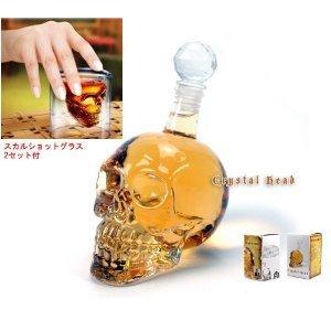Skull Decanter & Skull Rock / Shot Glass Set Of 2 (Japan Import) front-189527