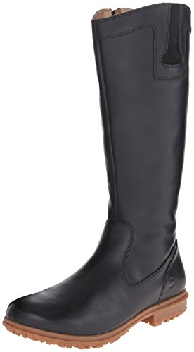 Bogs Women's Pearl Tall Waterproof Leather Boot, Black (Bogs Boot Liner compare prices)
