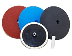 "The Ultimate Buffing and Polishing Kit with 6 -8"" Pads and a Standard 5/8"" Threaded Grip Backing Plate"