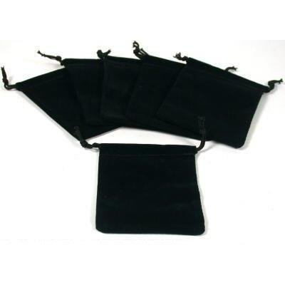 Black Velvet Drawstring Jewelry Bags